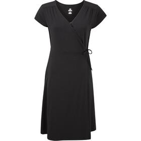 Sherpa Padma Wrap Dress Women, negro